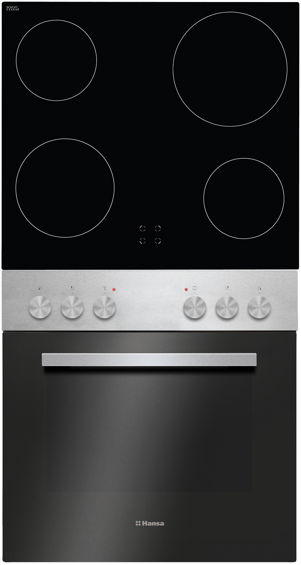 Built-in cooker with ceramic hob
